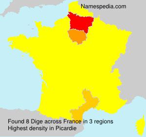 Familiennamen Dige - France