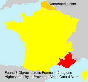 Familiennamen Digraci - France