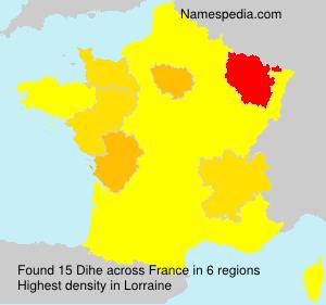 Surname Dihe in France