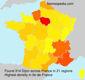Surname Dijon in France