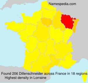 Familiennamen Dillenschneider - France