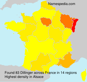 Surname Dillinger in France