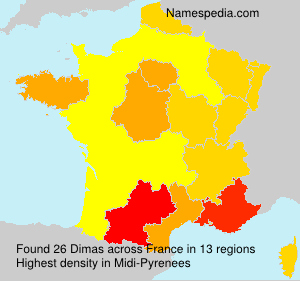 Surname Dimas in France
