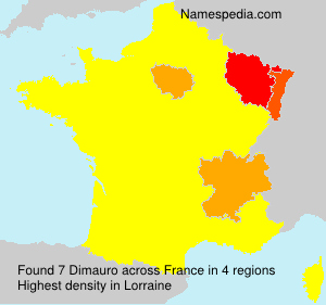 Surname Dimauro in France