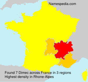 Surname Dimec in France
