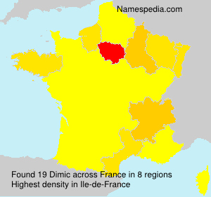 Surname Dimic in France