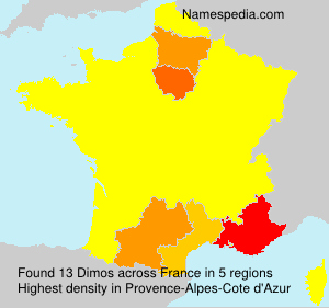 Surname Dimos in France