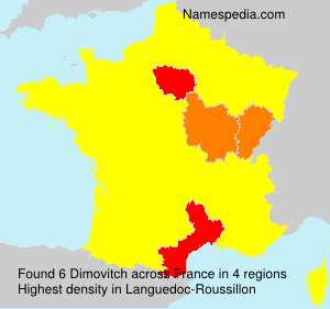 Surname Dimovitch in France