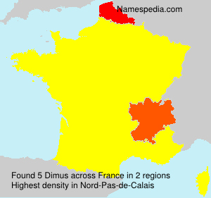 Surname Dimus in France