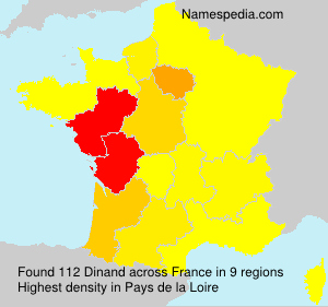 Familiennamen Dinand - France