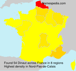 Surname Dinaut in France