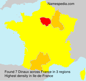 Surname Dinaux in France
