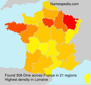 Surname Dine in France