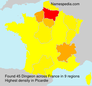 Surname Dingeon in France