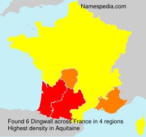 Familiennamen Dingwall - France