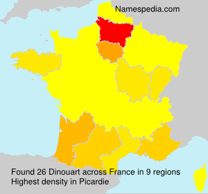 Surname Dinouart in France