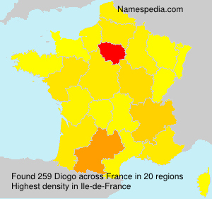 Surname Diogo in France