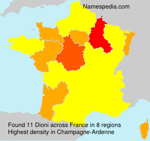 Surname Dioni in France
