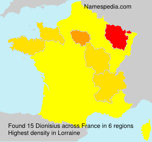 Surname Dionisius in France