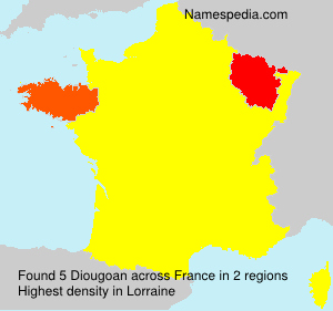 Surname Diougoan in France