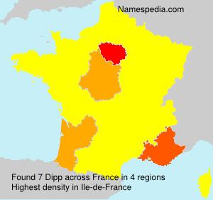 Surname Dipp in France