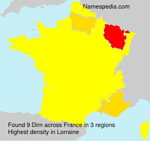 Surname Dirn in France