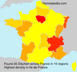 Surname Dischert in France