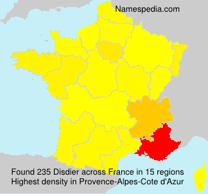 Surname Disdier in France