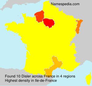 Surname Disler in France
