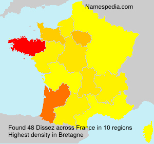 Surname Dissez in France