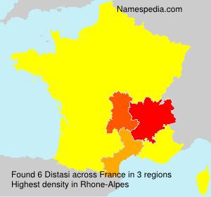 Familiennamen Distasi - France