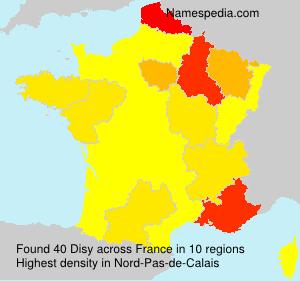 Surname Disy in France