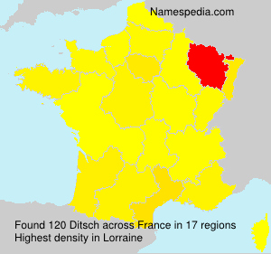 Surname Ditsch in France