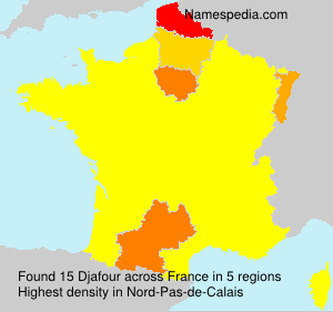 Surname Djafour in France