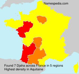 Familiennamen Djaha - France