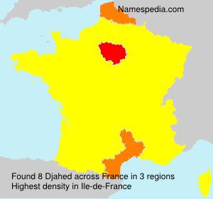 Surname Djahed in France