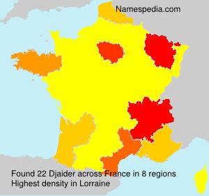 Surname Djaider in France