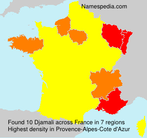 Surname Djamali in France