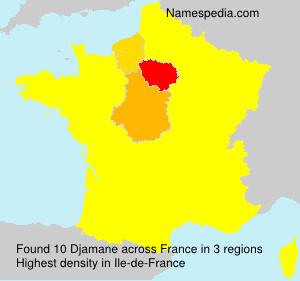 Surname Djamane in France