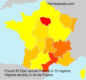 Familiennamen Djari - France