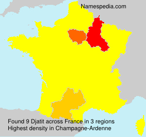 Surname Djatit in France