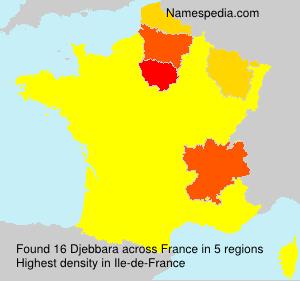 Surname Djebbara in France