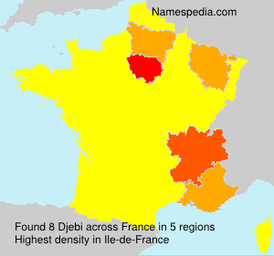 Surname Djebi in France