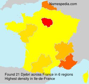 Surname Djebri in France