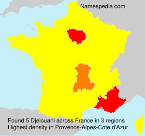Familiennamen Djelouahi - France