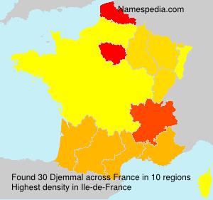 Familiennamen Djemmal - France
