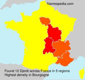 Surname Djerdi in France