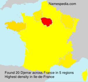 Surname Djerrar in France