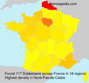 Surname Dobbelaere in France
