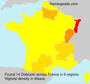 Surname Dobrocki in France
